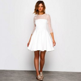 Платье свадебное короткое экрю MADEMOISELLE R