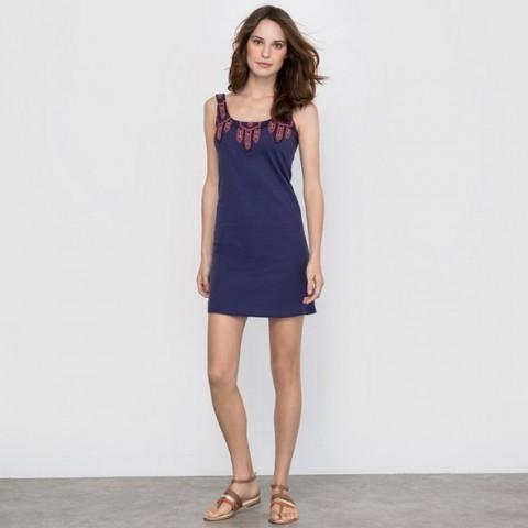 Платье с вышивкой в этническом стиле синий морской R édition